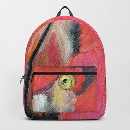 Portrait of a Flamingo Backpack