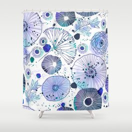 Inky Floral Shower Curtain