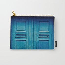Paris door, blue Carry-All Pouch