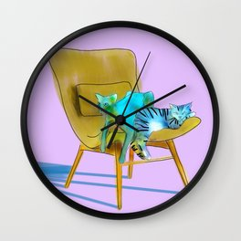 animals in chairs #12 Cats Wall Clock