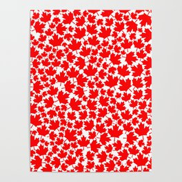 Canadian fall / Canadian flag maple leaf pattern Poster