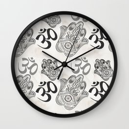Hamsa Yoga Pattern Wall Clock