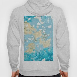 Gold Abstract Modern Painting Hoody