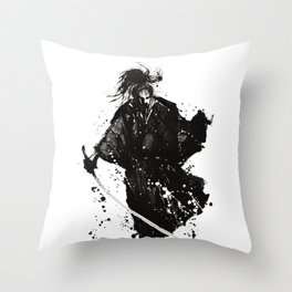 Samurai ronin Throw Pillow