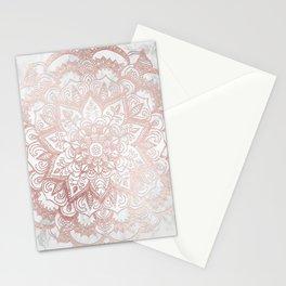 Rose Gold Mandala Star Stationery Cards