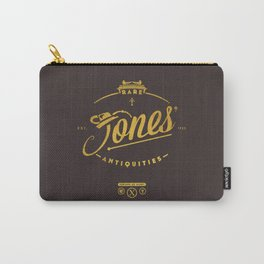 """""""Jones' Rare Antiquities"""" - gold version Carry-All Pouch"""