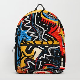 Art as a will to live Graffiti Street Art Backpack