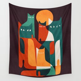 Cat Family Wall Tapestry