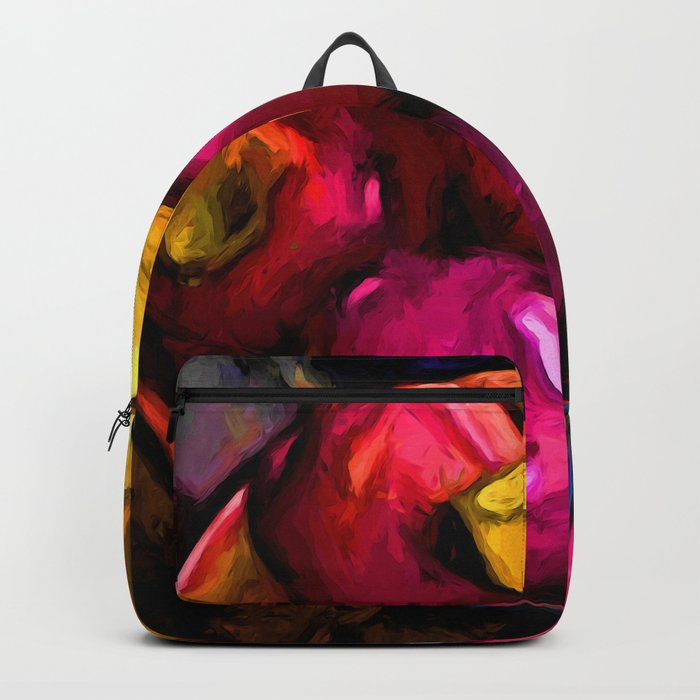 Still Life with Pink Apples and Yellow Bananas Backpack
