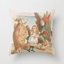 Scene from Alice in Wonderland Throw Pillow