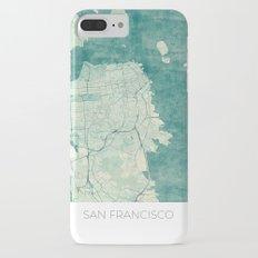 San Francisco Map Blue Vintage  iPhone 7 Plus Slim Case