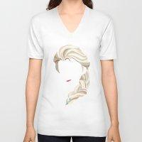 elsa V-neck T-shirts featuring Elsa by Bethany Mallick