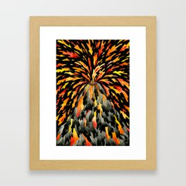 Volcano Framed Art Print