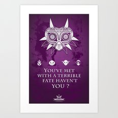 The Legend of Zelda Majora's Mask Terrible Fate Nintendo Geekery Poster/ Fine Art Print / Retro Game Art Print