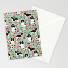 English Springer Spaniel florals cute dog art pet portraits by pet friendly dog breeds Stationery Cards