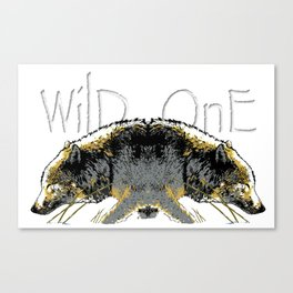 Timber Wolf Wild One Canvas Print