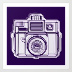 I Still Shoot Film Holga Logo - Reversed Deep Purple Art Print