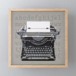 Vintage Typewriter Framed Mini Art Print