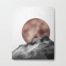 Rose Gold Mountain Metal Print
