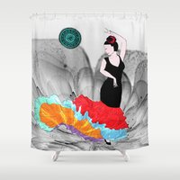 spanish Shower Curtains featuring Spanish Dancer by FreelanceDesigning