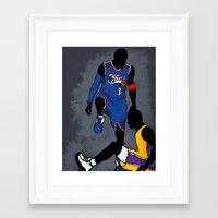 lakers Framed Art Prints featuring The Step Over by nissa