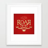 lannister Framed Art Prints featuring Game of Type by Jango Snow