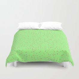 Green Lime Shambolic Bubbles Duvet Cover