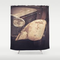 car Shower Curtains featuring Vintage Car by Maria Heyens