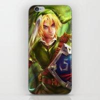 the legend of zelda iPhone & iPod Skins featuring Link - Legend of Zelda by Sanjin Halimic