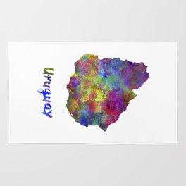 Uruguay in watercolor Rug