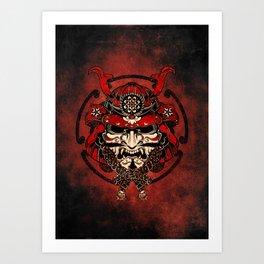 Samurai Mask, Budo, Bushido, Art Print