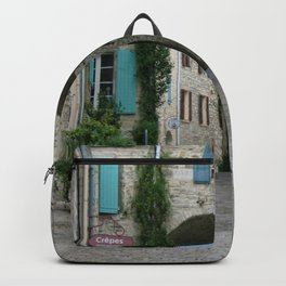 France Photography - Street From A Town In Vézénobres Backpack