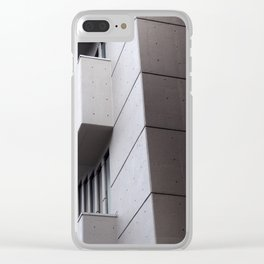Brutalist concrete abstract - roger stevens building leeds Clear iPhone Case