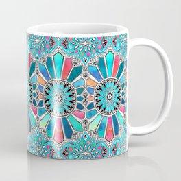 Iridescent Watercolor Brights on White Coffee Mug