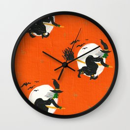 Witch's Midnight Flight Wall Clock