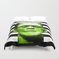 frank Duvet Covers featuring Frank by Portia Alice