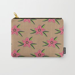 Old school tattoo flower pattern Carry-All Pouch