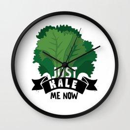 Just Kale me Now Kale Art for Vegans on Diet Light Wall Clock