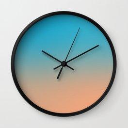 Blue/Orange Contrast Wall Clock