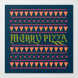Merry Pizza Canvas Print