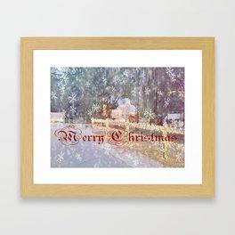 Country Merry Christmas Framed Art Print