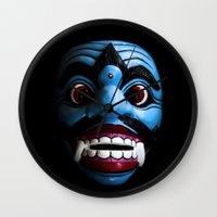 bali Wall Clocks featuring Bali mask by VanessaGF