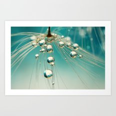 Dandy Blue Sprinkles Art Print