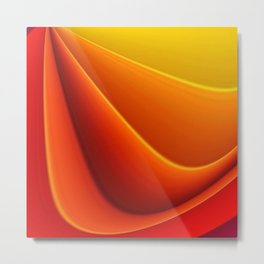 Orange caressing Metal Print