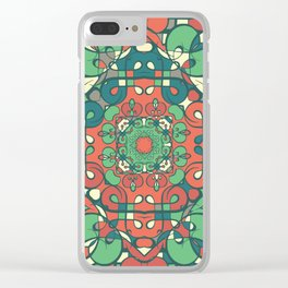 Traditional pattern design Clear iPhone Case