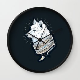 Wolf Protector Wall Clock