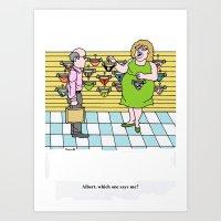 cartoon Art Prints featuring Cartoon by Ray Buzzelli