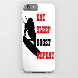 Eat Sleep Boost Repeat Kitebeach iPhone Case