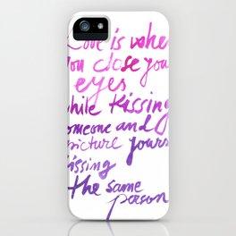 Love quotes iPhone Case