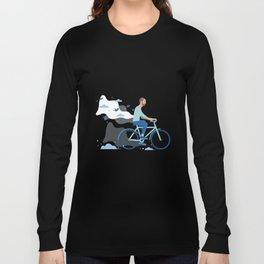 bird man bike Long Sleeve T-shirt